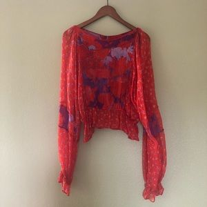Like new Free People blouse red